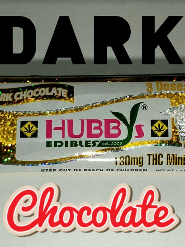 *HUBBY* 130mg Dark Chocolate Bar