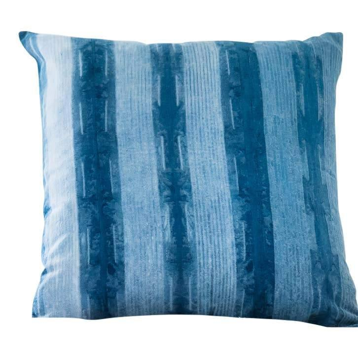 REYANSH Hand Dyed Shibori 18x18 Pillow with Insert