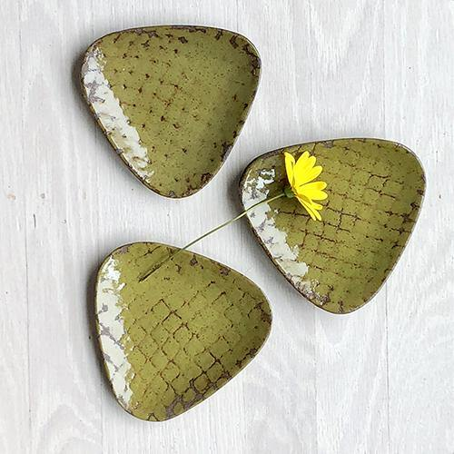 Triangular Dish - Moss Green