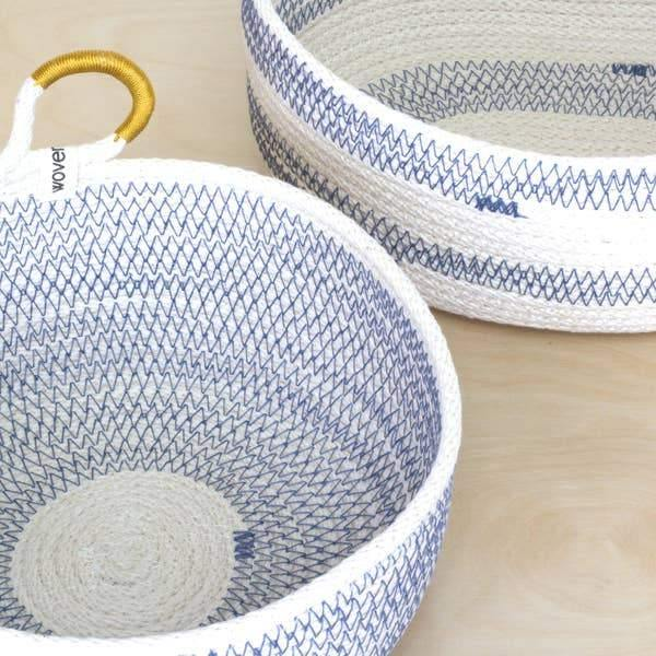 Coastal Round Basket - Blue