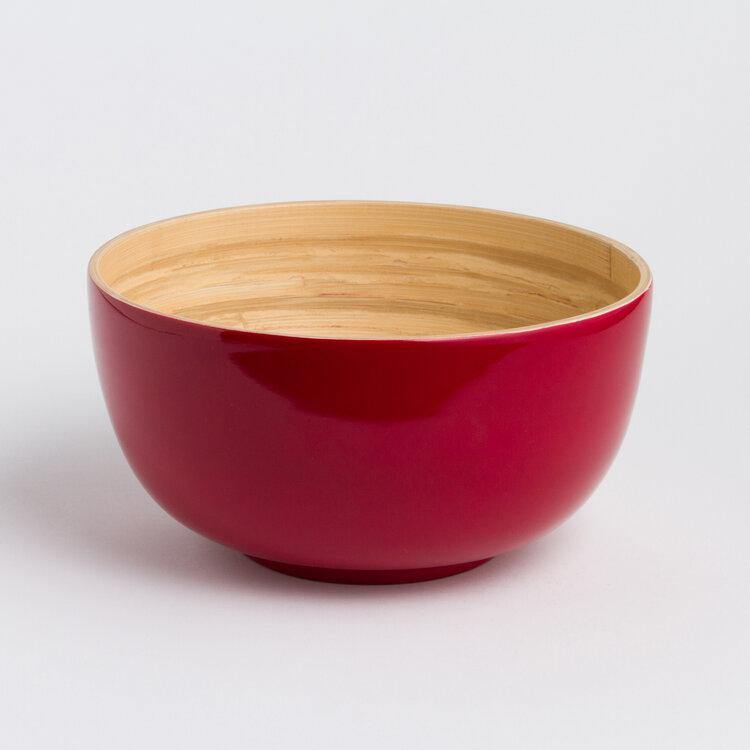 Tchon Extra Large Salad Bowl - Glossy Red