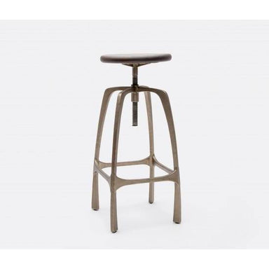 Beckett Stool Aged Silver-FURNITURE-Maker & Moss