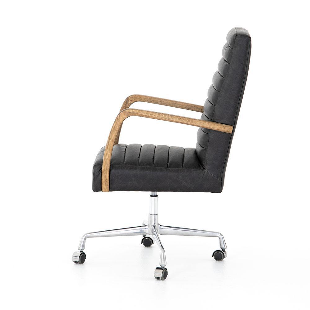 Berenson Channeled Desk Chair-FURNITURE-Maker & Moss
