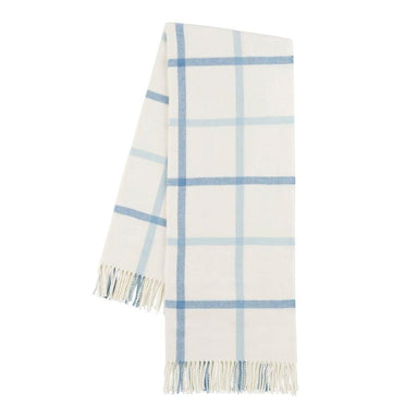 Blue Denim & Baby Blue Tattersall Plaid Throw-TEXTILES-Maker & Moss