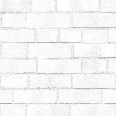 Brick White Peel and Stick Wallpaper-LIFESTYLE-Maker & Moss