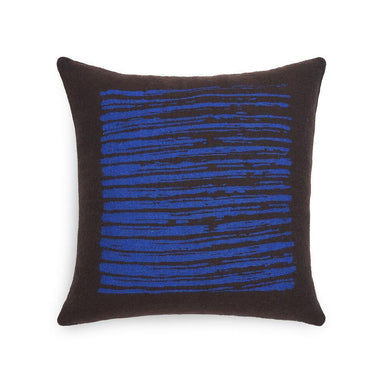 Brown Lines Square Cushion-TEXTILES-Maker & Moss