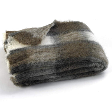 Chateau Plaid Brushed Alpaca Throw-TEXTILES-Maker & Moss