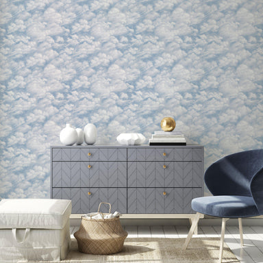 Clouds Sky Blue Peel and Stick Wallpaper-LIFESTYLE-Maker & Moss