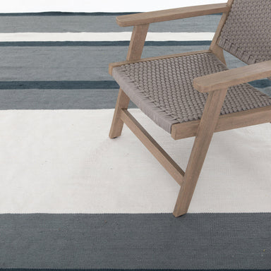 Cortona Outdoor Rug, Navy/Cream-TEXTILES-Maker & Moss