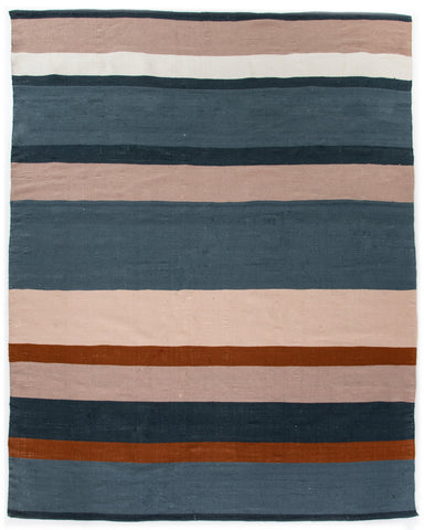 Cortona Outdoor Rug, Navy/Orange/Blus-TEXTILES-Maker & Moss