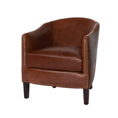 Crescent Chair Leather-FURNITURE-Maker & Moss