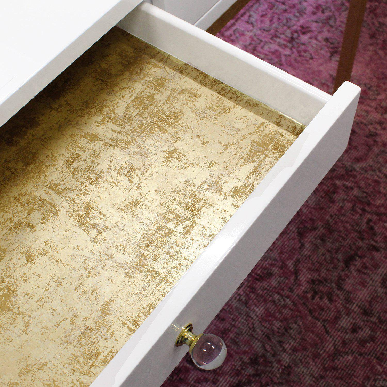 Distressed Gold Leaf Peel and Stick Wallpaper-LIFESTYLE-Maker & Moss