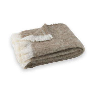 Driftwood Brushed Alpaca Throw-TEXTILES-Maker & Moss