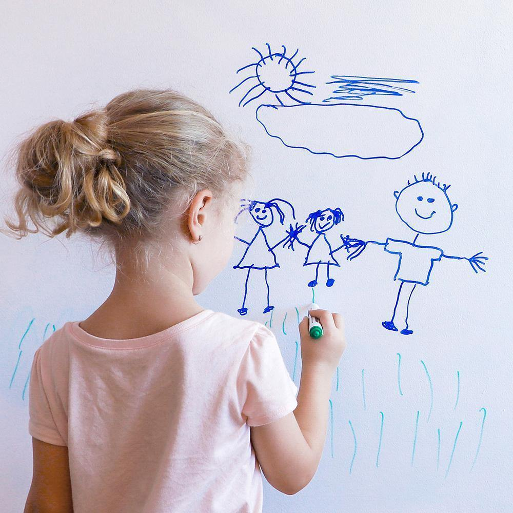 Dry Erase White Peel and Stick Wallpaper-LIFESTYLE-Maker & Moss