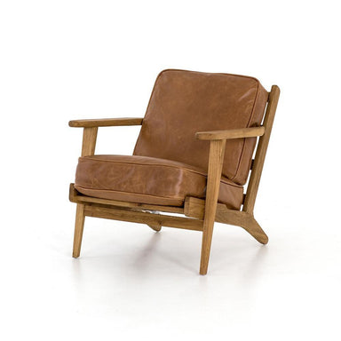 Firmdale Leather Lounge Chair - Maker & Moss