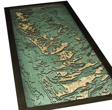 Florida Keys Wood Chart-WOOD CHART-Maker & Moss