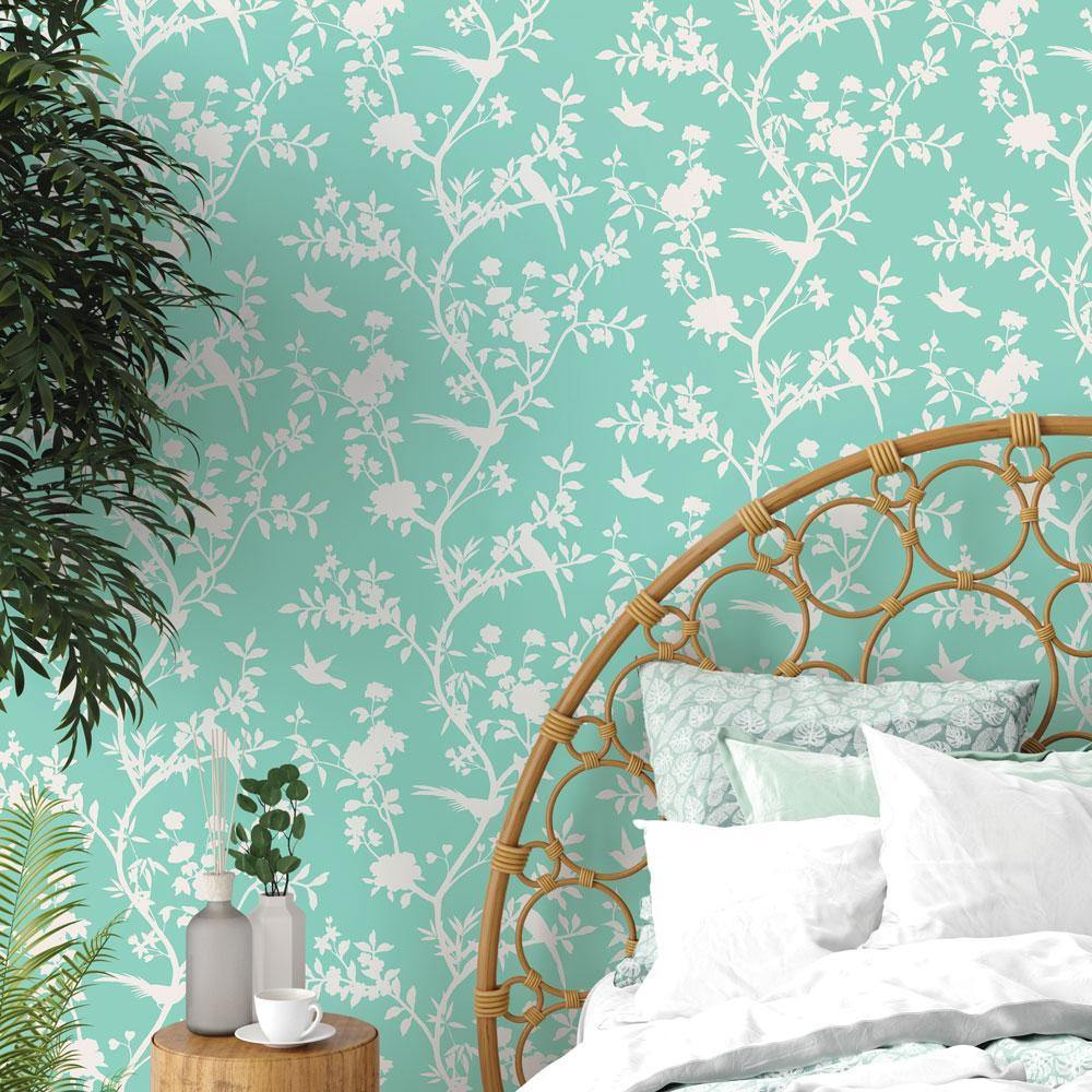 Garden Affair Calypso Peel and Stick Wallpaper-LIFESTYLE-Maker & Moss