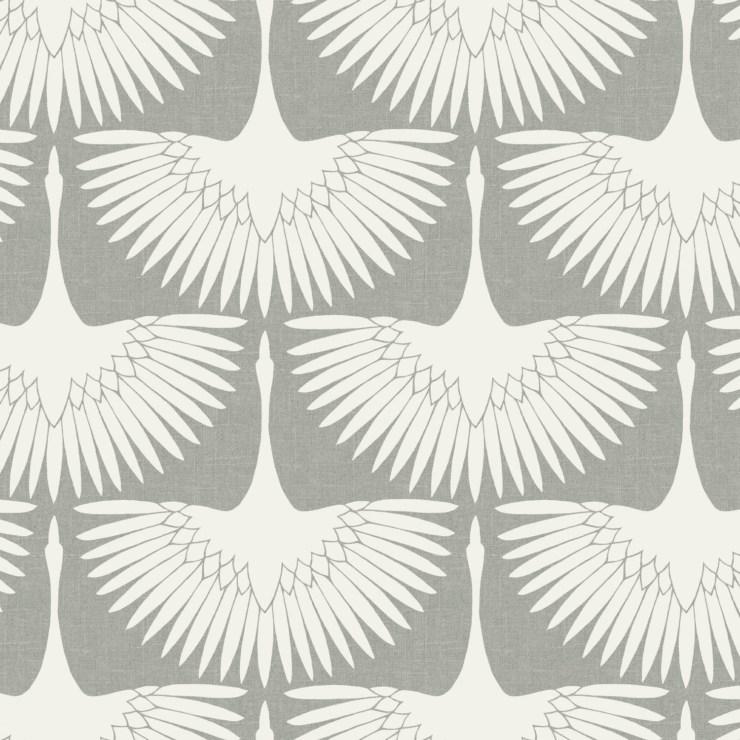 Genevieve Gorder Feather Flock Chalk Peel and Stick Wallpaper-LIFESTYLE-Maker & Moss