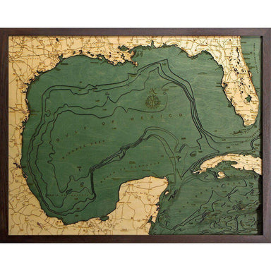 Gulf of Mexico Wood Chart-WOOD CHART-Maker & Moss