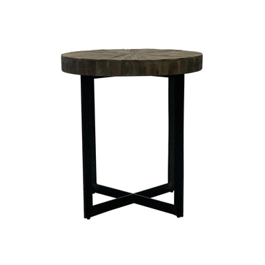 Harvest Iron Side Table-FURNITURE-Maker & Moss