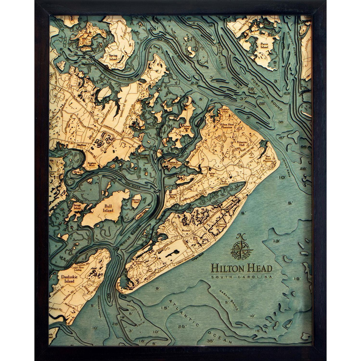 Hilton Head Wood Chart-WOOD CHART-Maker & Moss