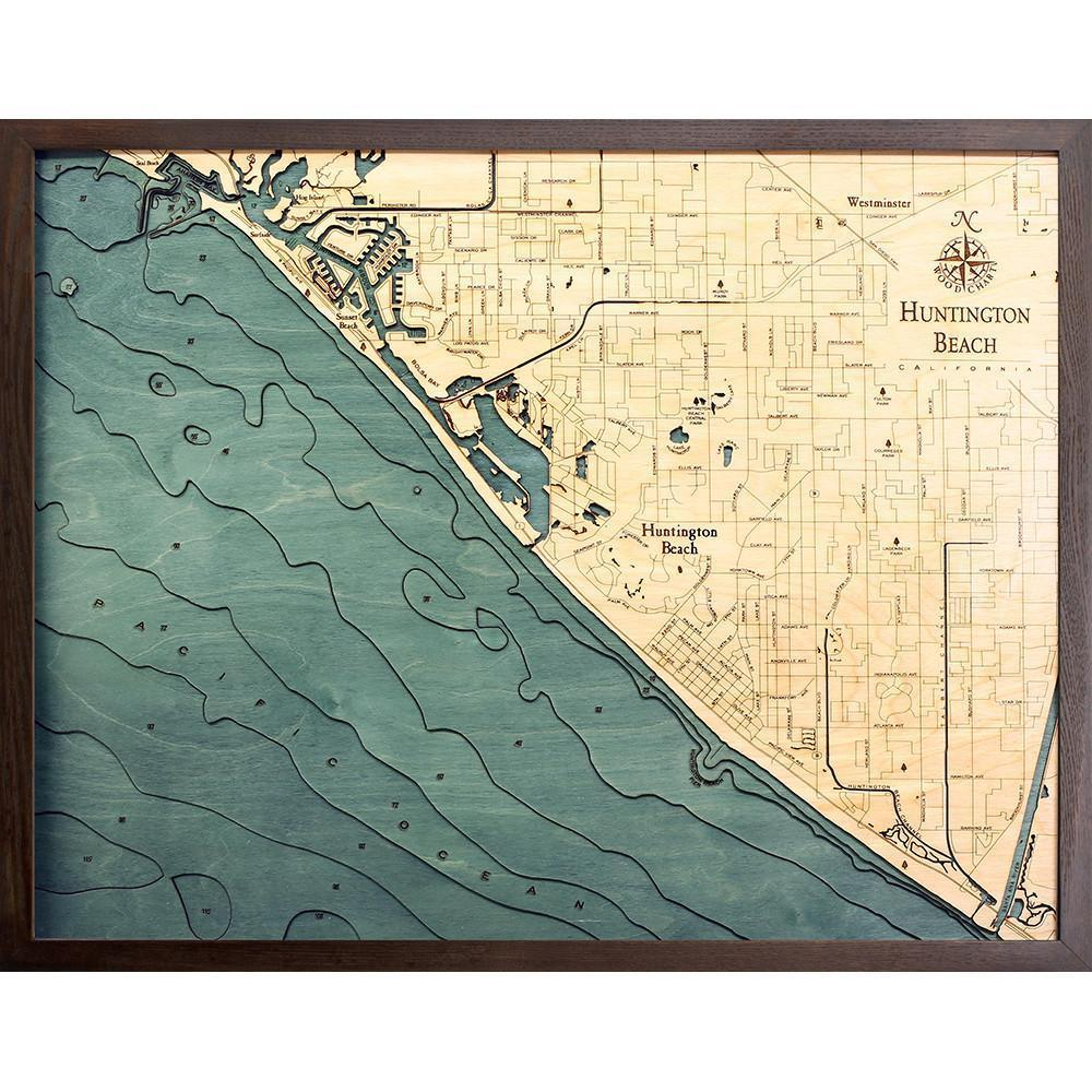 Huntington Beach Wood Chart-WOOD CHART-Maker & Moss
