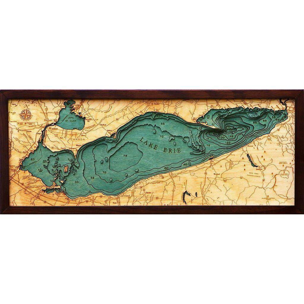 Lake Erie Wood Chart-WOOD CHART-Maker & Moss