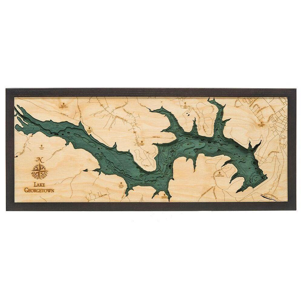 Lake Georgetown Wood Chart-WOOD CHART-Maker & Moss