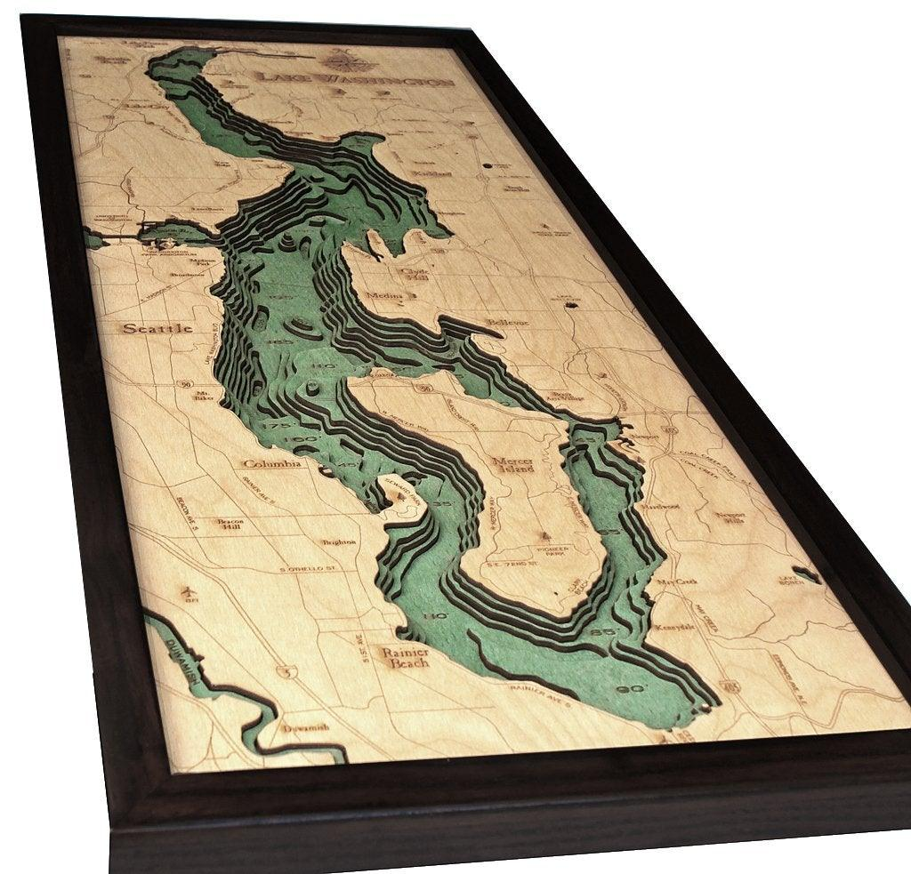 Lake Washington Wood Chart-WOOD CHART-Maker & Moss