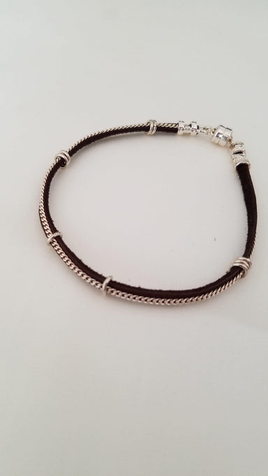 Leather and Sterling Silver Bracelet-Jewelry-Maker & Moss