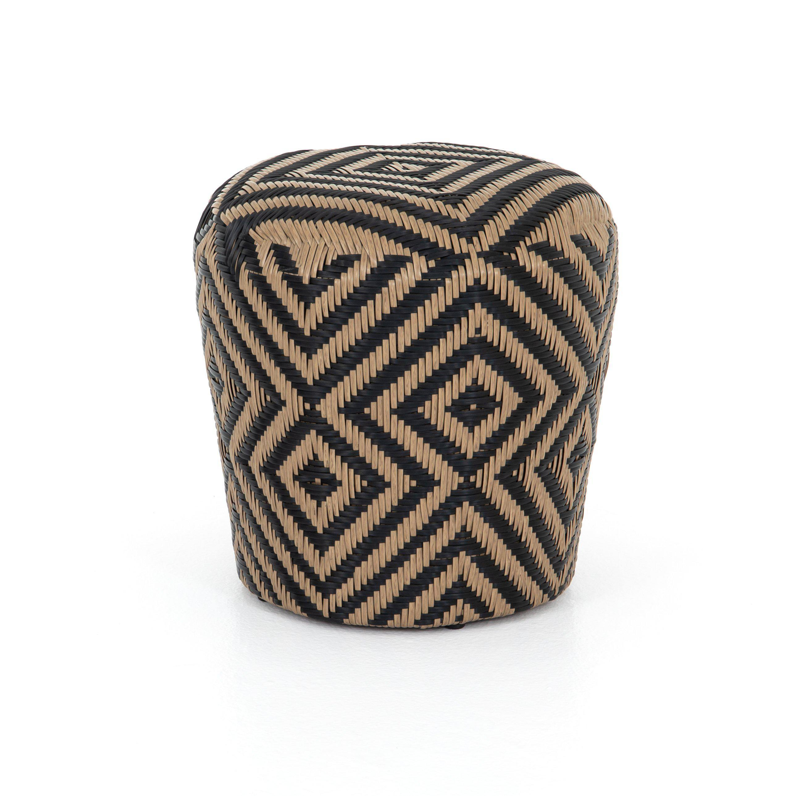 Lima Woven Outdoor Stool-Natural Woven-FURNITURE-Maker & Moss