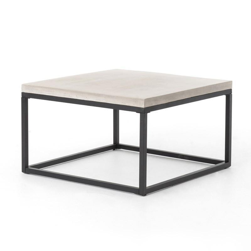 "Maximus 30"" Square Coffee Table in Natural Concrete-FURNITURE-Maker & Moss"