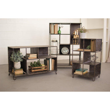Metal Shelving Unit-FURNITURE-Maker & Moss