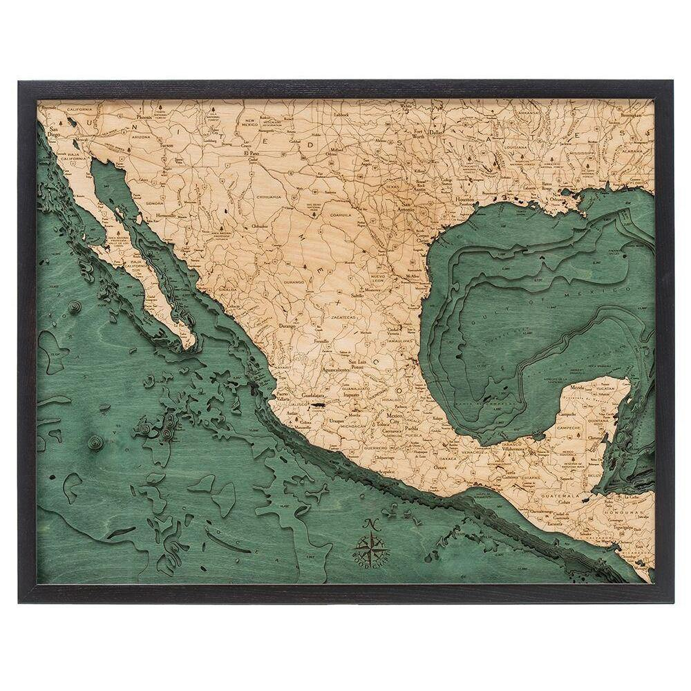 Mexico Wood Chart-WOOD CHART-Maker & Moss