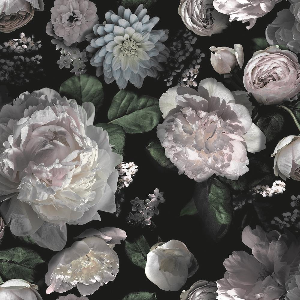 Moody Floral Peel and Stick Wallpaper-LIFESTYLE-Maker & Moss