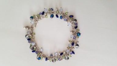 Multi Gem and Crystal Sterling Silver Bracelet-Jewelry-Maker & Moss