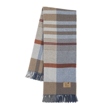 Napoli Plaid Lambswool Throw-TEXTILES-Maker & Moss