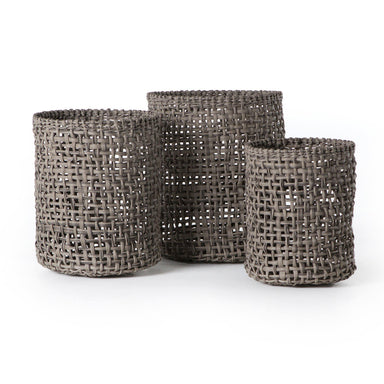Natural Baskets (Set Of 3)-DECORATIVE-Maker & Moss