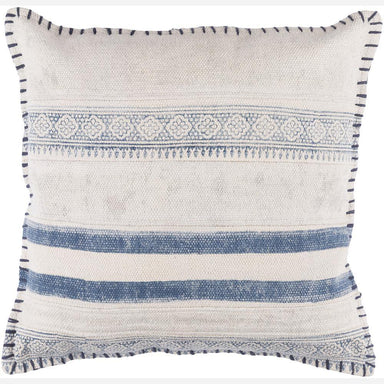 navy and cream decorative pillow - maker and moss