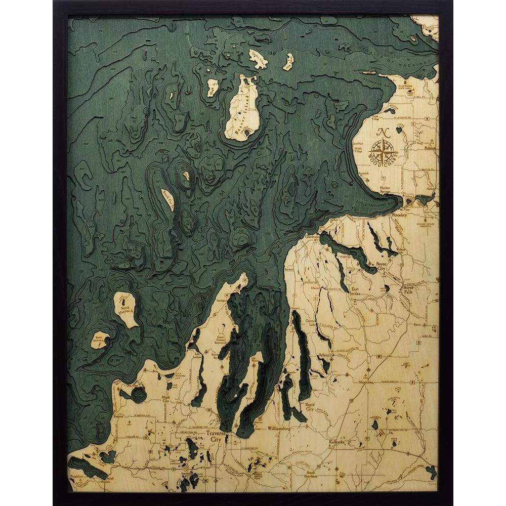 Northwest Lower Michigan Wood Chart-WOOD CHART-Maker & Moss