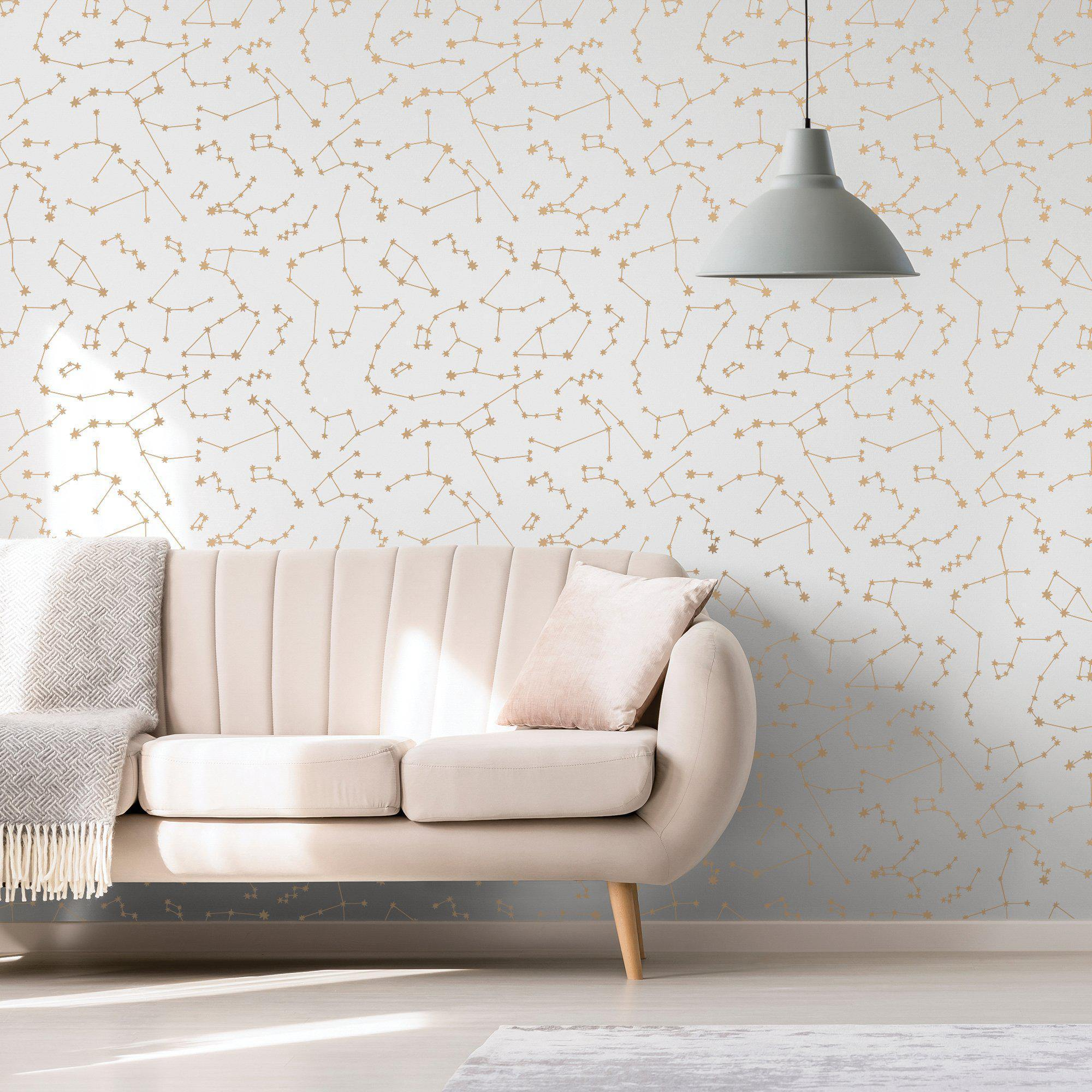 Novogratz Constellations Frost Peel and Stick Wallpaper-LIFESTYLE-Maker & Moss