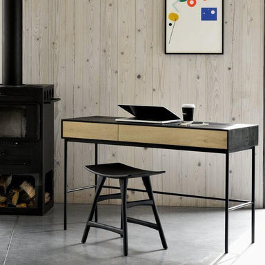 Oak Blackbird Desk-FURNITURE-Maker & Moss