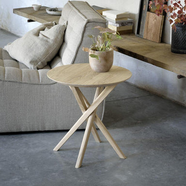 Oak Mikado Side Table-FURNITURE-Maker & Moss