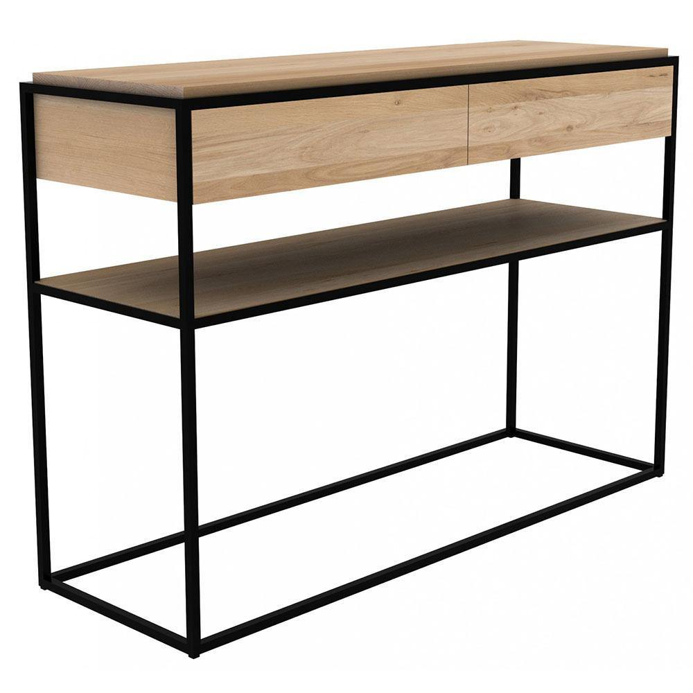 Oak Monolit Console-FURNITURE-Maker & Moss