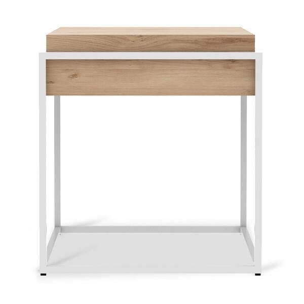Oak Monolit Side Table with Removable Cover-FURNITURE-Maker & Moss
