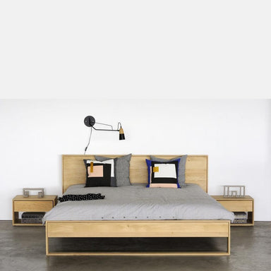 Oak Nordic II Bed-FURNITURE-Maker & Moss