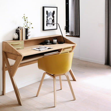 Oak Origami Desk-FURNITURE-Maker & Moss