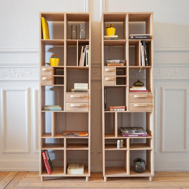 Oak Pirouette Book Rack-FURNITURE-Maker & Moss