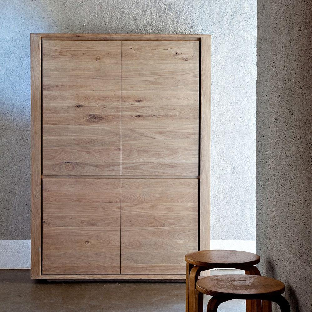 Oak Shadow Storage Cupboard-FURNITURE-Maker & Moss