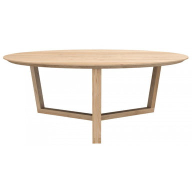 Oak Tripod Coffee Table-FURNITURE-Maker & Moss